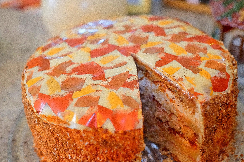 Rezept Torte Zu Weihnachten Mit Lebkuchen Bratapfel Und Marzipan